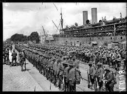 le débarquement en 1917 de la force expéditionnaire à Saint-nazaire